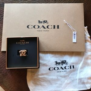 COACH Rings. Set of three. Retails $95